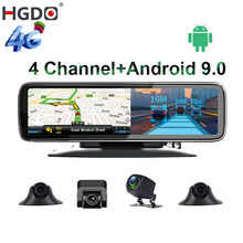 "HGDO 11.26"" 4 Channel Lens Android 9.0 Dashboard Car DVR Video Recorder HD Rearview Mirror Camera Dash Cam Auto registrar"