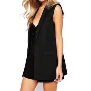 Image 2 - Phụ nữ áo vest Thời Trang Tủ Quần Áo hình Chắc Chắn Ôm áo vest 2019 Trang Trí Áo Nữ Không Tay Áo công sở cho Nữ