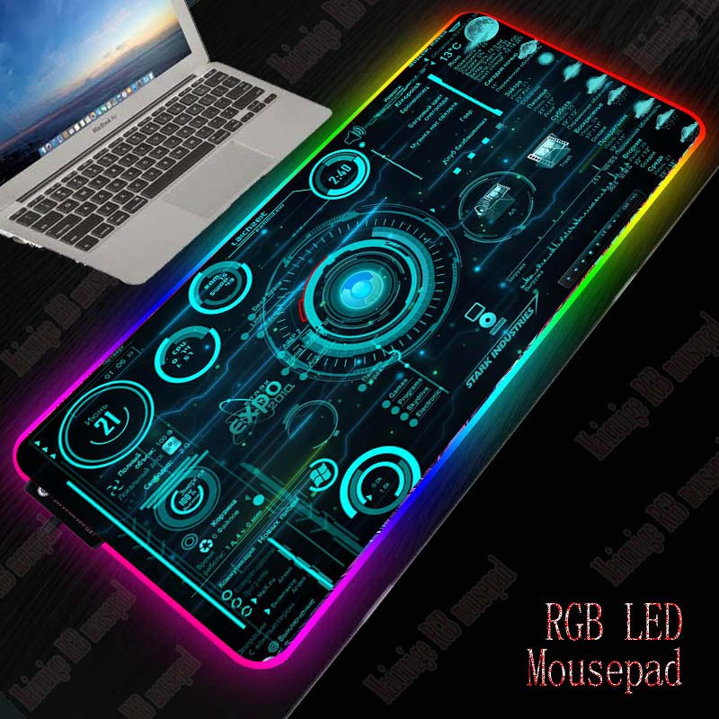 Mairuige Cool Line Abstract Gaming RGB Large Mouse Pad Gamer Big Mouse Mat Computer Mousepad Led Backlight  Keyboard Desk Mat 1