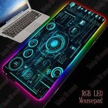 Mairuige Cool ligne abstraite jeu RGB grand tapis de souris Gamer grand tapis de souris ordinateur tapis de souris Led rétro éclairage clavier tapis de bureau