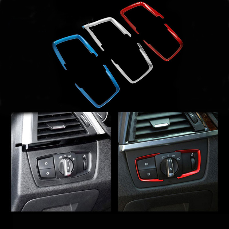 1PCS paillette Cover Headlight Switch Frame Trim Car <font><b>Sticker</b></font> For <font><b>bmw</b></font> M <font><b>Sticker</b></font> e46 e90 <font><b>f20</b></font> e39 X1 X3 X4 X5 X6 X7 Car accessories image