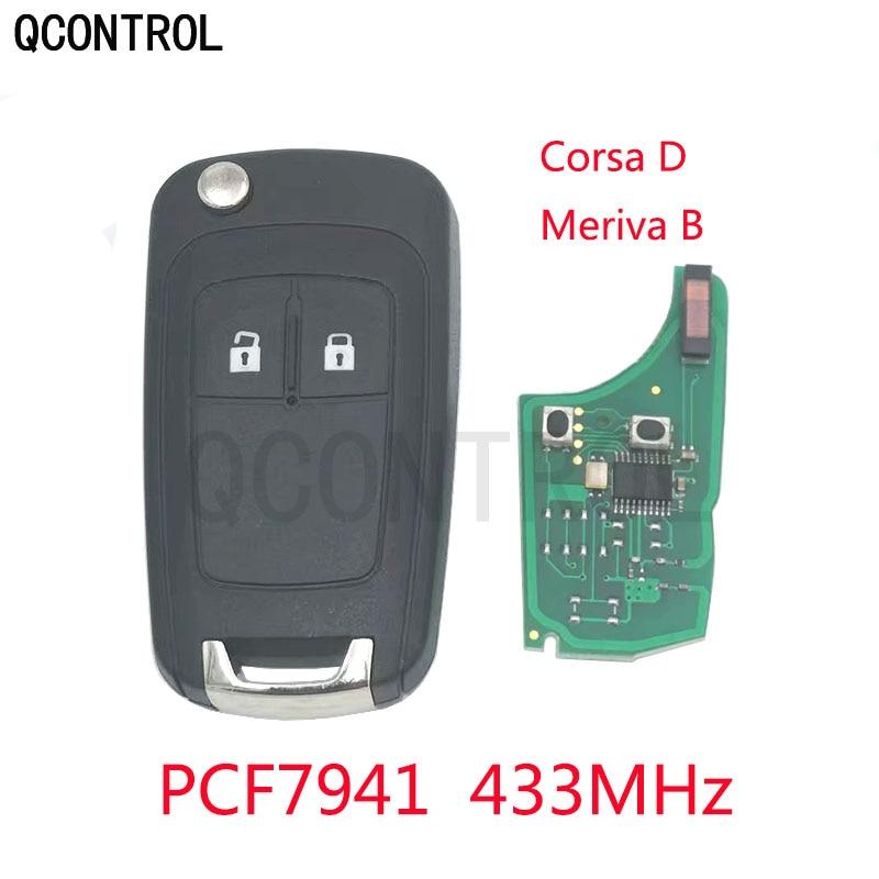 Qcontrol G4-AM433TX veículo remoto chave terno 433 mhz para opel/vauxhall corsa d 2007 +, meriva b 2010 pcf7941 chip