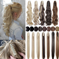 S-noilite 12-26inch Claw Clip On Ponytail Hair Extension Synthetic Ponytail Extension Hair For Women Pony Tail Hair Hairpiece 1