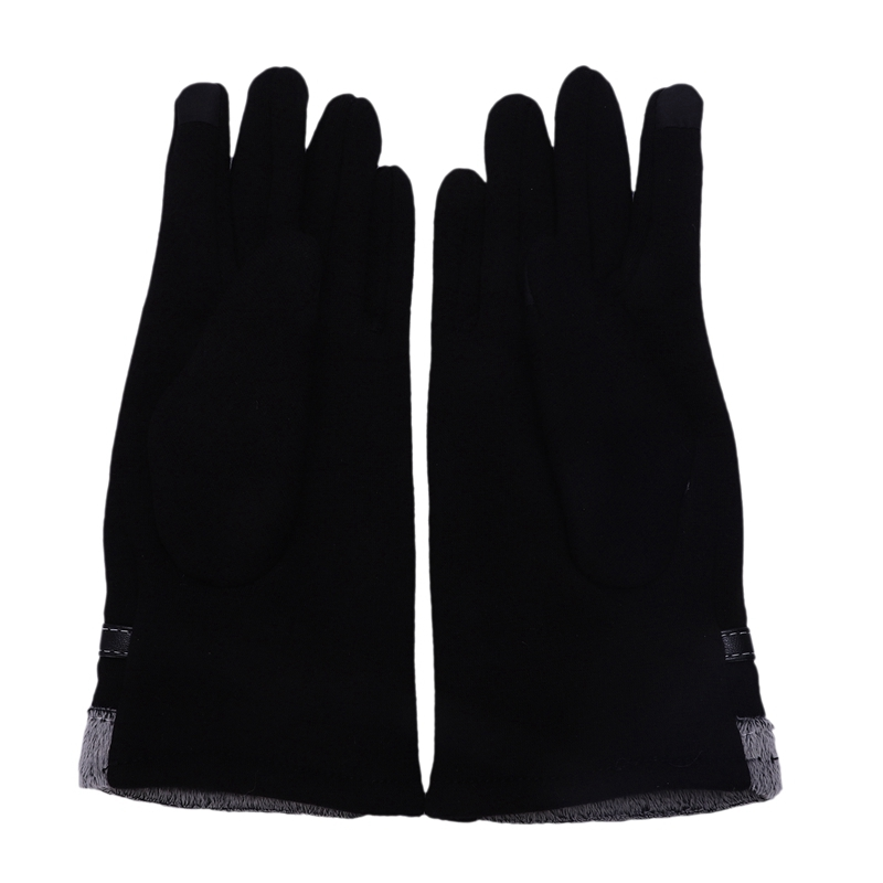 Touch Gloves Winter Warm Gloves Mittens For Touch Screen (black)