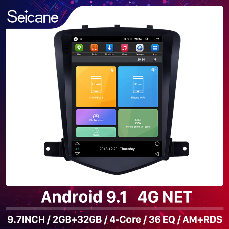 Seicane 9.7 inch RAM 2GB Android 9.1 Car Multimedia Player car GPS radio Stereo for 2008-2013 chevy Chevrolet Classic Cruze image