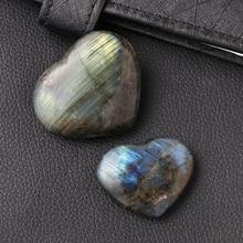 Natural Labradorite Crystal Rough Polished Rock Tumbled Stone and Heart Shape Crystal