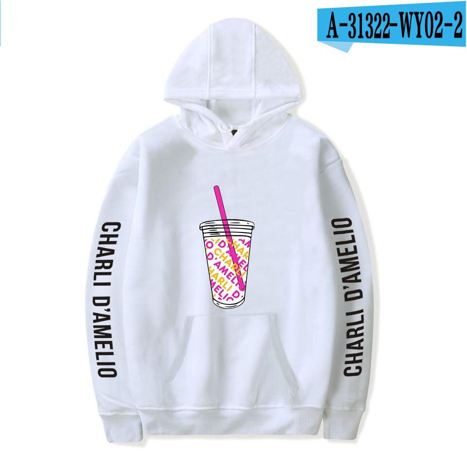 Charli Damelio Merch Print Ice Coffee Splatter Hoodie Women Men Sweatshirt Harajuku Hoodies Long Sleeve Tracksuit Pullover Womam 21