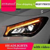 AUTO. PRO fari per Benz CLA 2014-2019 car styling bi xenon lente HA CONDOTTO LA luce di guida DRL H7 fari allo xeno per Benz CLA