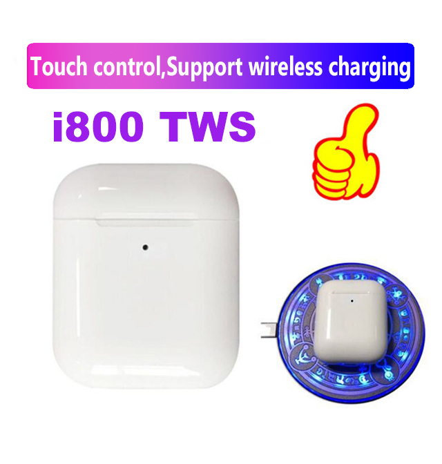 i800 <font><b>TWS</b></font> <font><b>Pop</b></font>-<font><b>up</b></font> 1:1 Separate use touch earbuds Wireless Earphones bluetooth 5.0 PK w1 H1 chip i20 i30 i60 i100 i200 i500 <font><b>tws</b></font> image