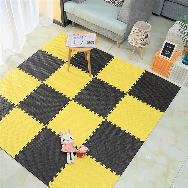4/6pcs EVA Soft Interlocking Foam Exercise Floor Mats Rug Children Play Mats Gym House Office Mat Home Decor Foam Exercise Mat 6