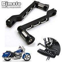 Bjmoto para touring softail estrada glide cnc de alumínio da motocicleta alavanca pedal deslocamento ajustável & freio shifter pedal alavanca