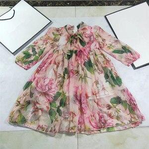 Платье для маленьких девочек 2020 новая одежда летняя брендовая одежда для маленьких девочек хлопковые детские платья в английском стиле