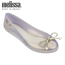 MELISSA SWEET LOVE AD Women Jelly Shoes Sandals 2020 New LOVE Women Jelly Sandals Melissa Female Hollow Flat Shoes Summer Shoes eiswelt 2017 new women sandals sweet bowtie flat shoes woman summer jelly shoes 4 colors size 35 39 dzw23