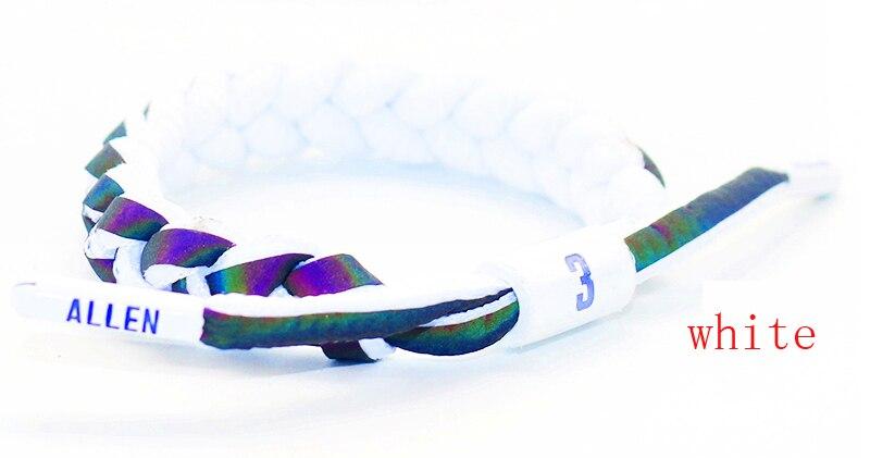 24pcs goede kwaliteit basketbal sport polsband grootte aanpassen katoen bangle schoenveter armband als iverson fans gift-in Amulet armband van Sieraden & accessoires op  Groep 1