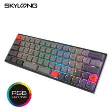 Skyloong sk66 механическая клавиатура rgb игровая 66 клавиш