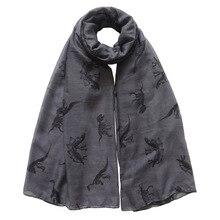 10 шт./партия,, женский шарф, шаль, обертывание, рисунок динозавра, 90 см x 180 см
