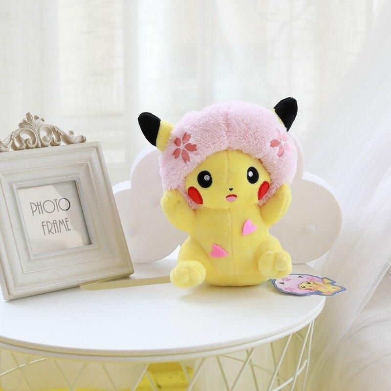 takara-tomy-font-b-pokemon-b-font-cherry-blossoms-pikachu-plush-toy-doll-stuffed-kawaii-gifts-for-girl-friend-hobby-collectible