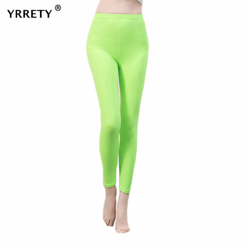 YRRETY Spandex Legging Skinny Pants Lady Solid Candy Color Neon Leggings High Elastic Soft Workout Slim Pants Casual Leggings