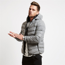 Autumn Winter Jogger Gyms Warm Men Jacket Coats Hooded Casual Thicken Parka Windproof Cotton-padded Clothes Men's Coat