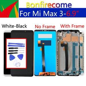 """Image 4 - 6.9 """"oryginalny wyświetlacz dla xiaomi max 3 LCD z ekranem dotykowym Digitizer z ramką zamiennik dla xiaomi max 3 ekran do montażu"""