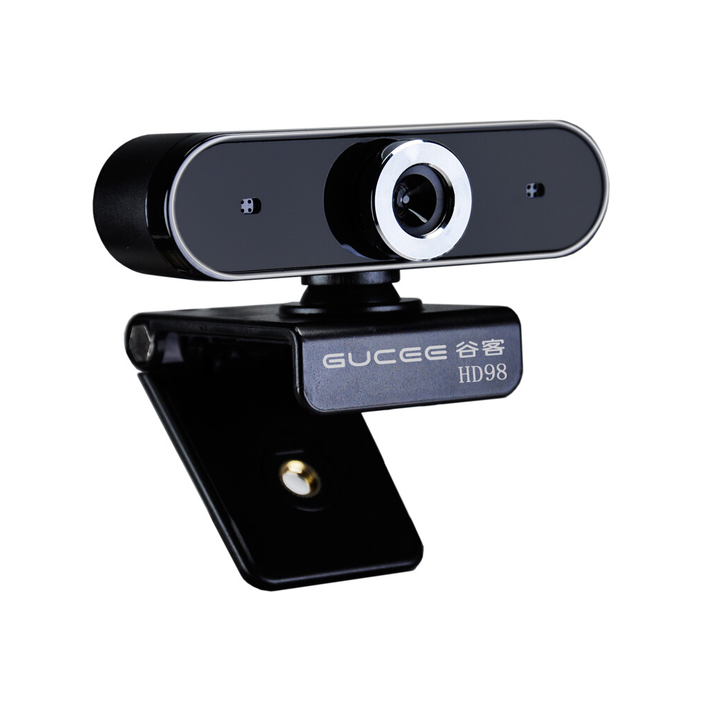 Gucee Webcam Microphone Combo 480P HD Web Cam Plug&Play Manual Focus Wired Condenser Audio 3.5mm Studio Mic Kit Web Camera Cover