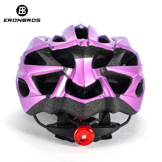 Bicicleta de montanha capacete com luz led vermelho e viseira de sol das mulheres dos homens leve estrada ciclismo capacete da bicicleta esportes equipamentos 6