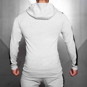 Image 4 - Fatos de treino dos homens correndo ternos do esporte moletom moletom ginásio fitness formação hoodies e calças define masculino jogging roupas