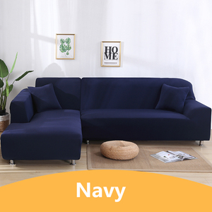 Image 5 - Solid Color Corner Sofa Covers for Living Room Elastic Spandex Sectional Slipcovers Couch Cover Stretch Sofa Towel