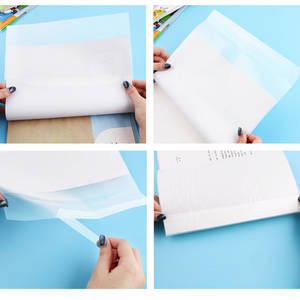 Film-Protector Book-Cover Note-Book Clear Exercise Plastic Waterproof 5pcs 16K