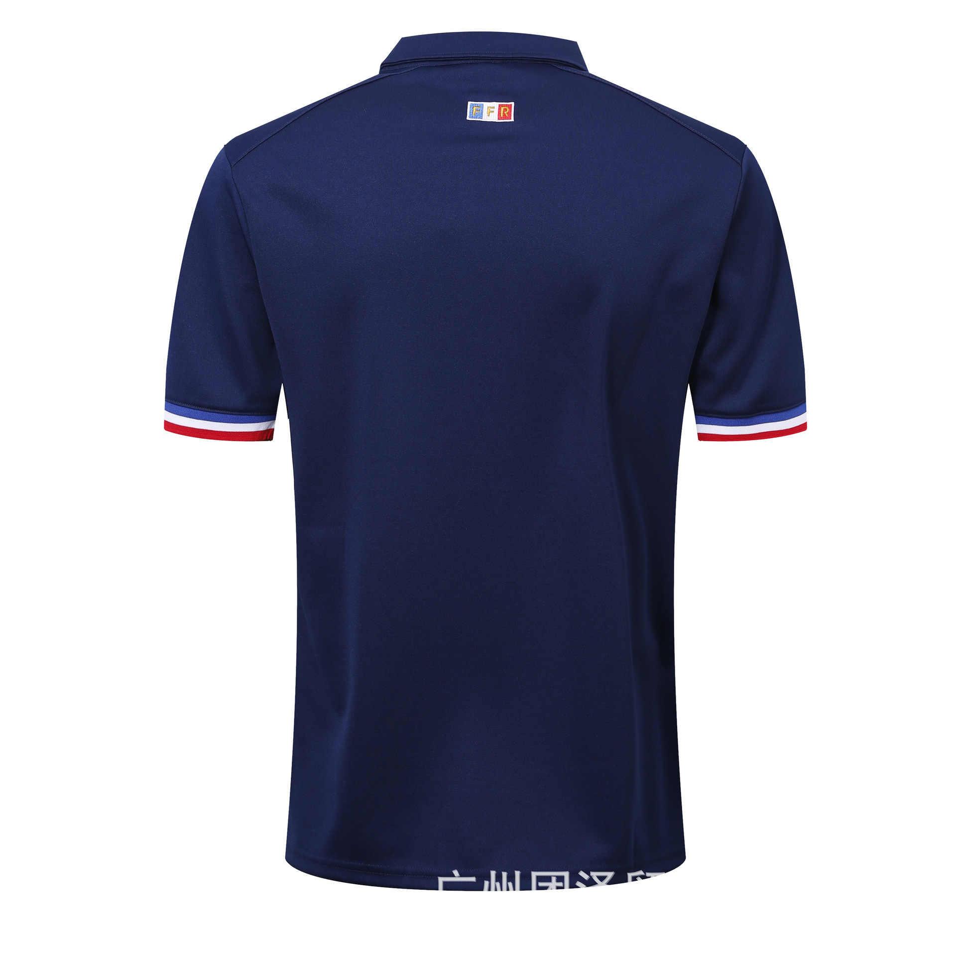 2018 france sapphire azul polo camisa de rugby S-3xl