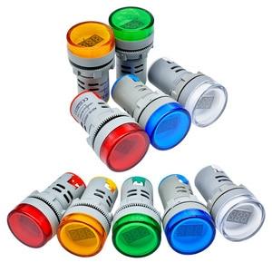 Мини 22 мм переменного тока 60-500 В AD16 AD16-22DSV Тип вольтметр светодиодный цифровой дисплей вольтметр Индикатор светильник Пилотная лампа 110 В