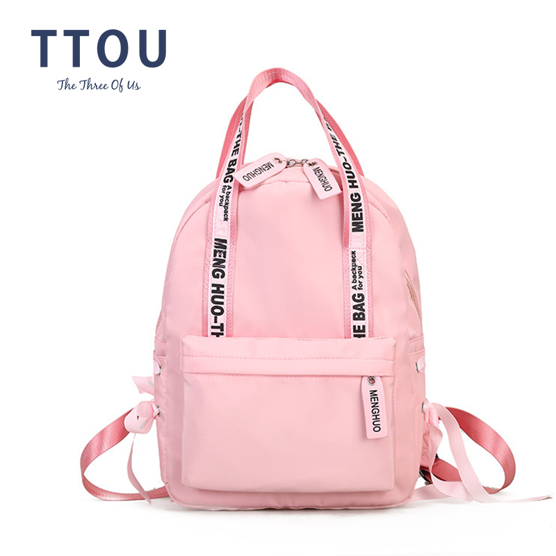 Fashion 2019 Backpack Women Preppy School Bags For Teenagers Backpack Female Nylon Travel Bags Girls Bowknot Backpack Mochilas