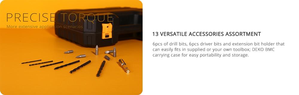 DEKO Новое поступление Banger 12 в 16 В 20 в Аккумуляторная дрель электрическая отвертка мини беспроводной драйвер питания DC литий-ионный аккумулятор 3/8 в