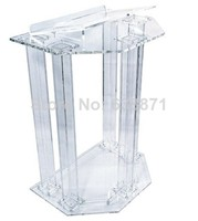 Bezpłatna wysyłka przezroczysty akrylowy podium z pleksiglasu podium akrylowe podium akrylowe w Biurka do recepcji od Meble na