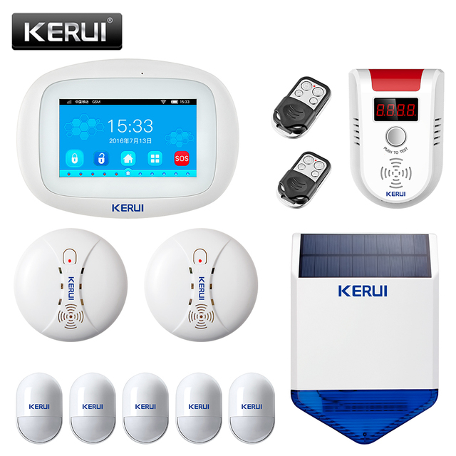 KERUI K52 WIFI GSM Alarm System 4.3 Inch Full Color Touch Display Smart Voice Prompt Home Security Wireless Buglar Alarm System 1