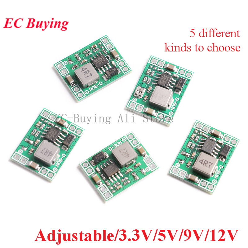 DC-DC Step Down Power Supply Module 3A Adjustable Fixed Output 3.3V/5V/9V/<font><b>12V</b></font> Buck Converter MP1584 For Arduino Replace <font><b>LM2596</b></font> image