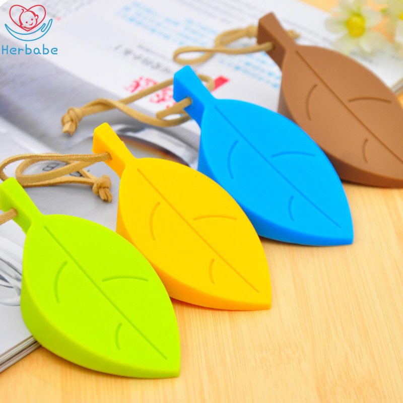 Herbabe 4Pcs Child Door Stoppers Cute Cartoon Leaf Style Silicone Door Stop Anti-pinch Security Card Guard Baby Safety Protector