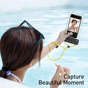 Image 3 - Baseus עמיד למים טלפון מקרה עבור iPhone 11 פרו מקס לשחות פאוץ תיק מקרה IPX8 אוניברסלי כיסוי עבור Samsung S20 להיסחף צלילה גלישה
