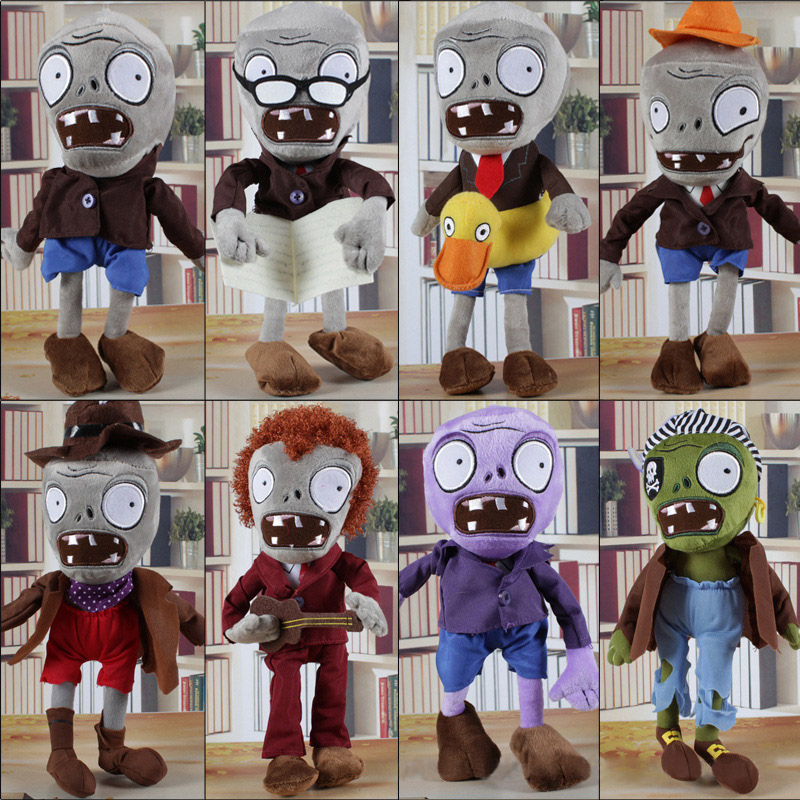 Plants Vs Zombies Plush Toys Series Plants Vs Zombies Hats Pirate Duck Zombies Plush Stuffed Toys Doll Gifts For Kids Children