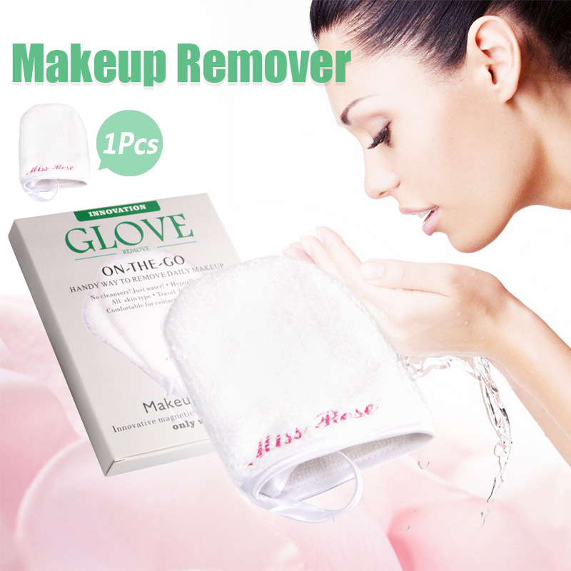 1pcs Face Cleaning Towel Gloves Seaweed Wash Puff Makeup Remover Sponge