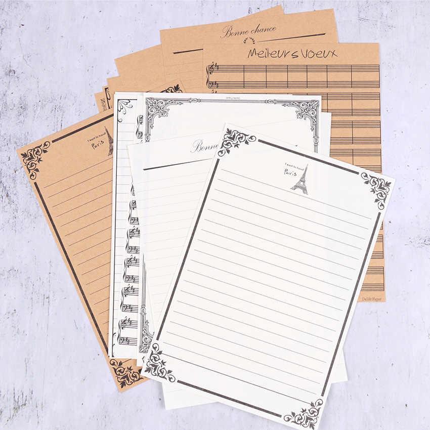 8 قطعة خمر إلكتروني ورقة القرطاسية كرافت ورقة ورق للكتابة إلكتروني للأطفال هدايا المدرسة اللوازم المكتبية