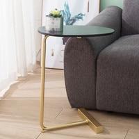 북유럽 간단한 작은 테이블 현대 가구 철 아트 티 테이블 거실 간단한 커피 사이드 테이블 커피 테이블 책
