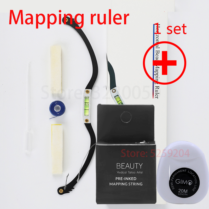 Pre-Inked Line Maker Eyebrow Ruler Brows Mapping Strings Pre Ink Microblading Positioning PMU Accessories For Permanent Makeup