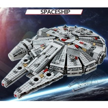 Star Space War Super Big Spacecraft Millennium Assembled Building Blocks Toy Spaceship Model Collection Toys