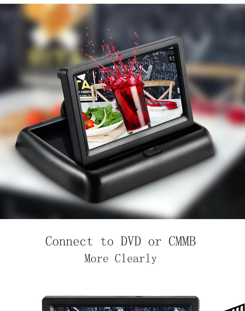 Wireless Car Monitor 4.3 TFT LCD Rear View Camer IR Universal Mirror Parking Assistance for ChevroletCruzeEpicaAveoMalibu  (12)