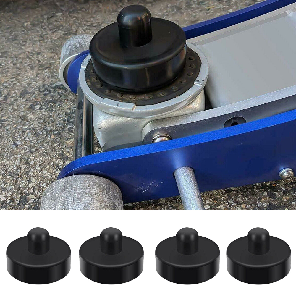 4pcs Rubber Round Lift Point Practical Repairing Protective Durable Auto Vehicle Jack Pad Chassis Car Adapter For Tesla