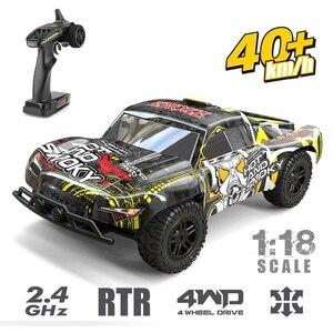 1:18 4WD RC автомобиль Детский подарок 40 + MPH высокоскоростной автомобиль с дистанционным управлением вездеход игрушки