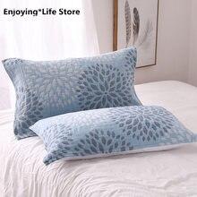 Пара полотенец для подушек из чистого хлопка 6 слоев 50 Х70