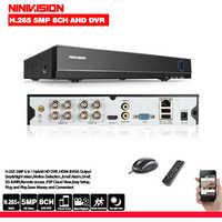 6 en 1 H.265 + 8ch AHD video grabador híbrido para 5MP/4MP/3MP/1080 P/720 P Cámara vmeyesuper de Onvif P2P CCTV DVR AHD DVR soporte USB wifi