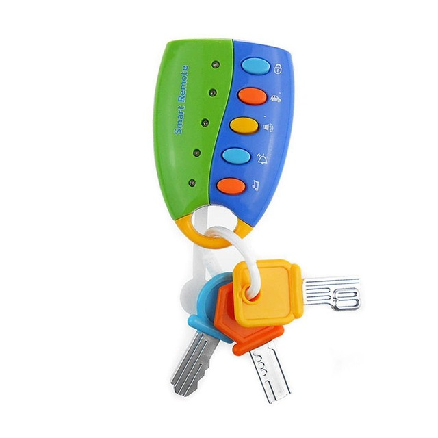 Pretend Musical Car Key Toys For Baby, Colorful Smart Remote Car Voices Flash Play Early Educational Toy For Kids